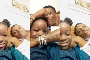 Wizkid & his son, Boluwatife Spend 'Father And Son' Moments Together (Photos)